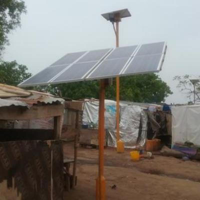 Power and lighting for a Nigerian refugee camp