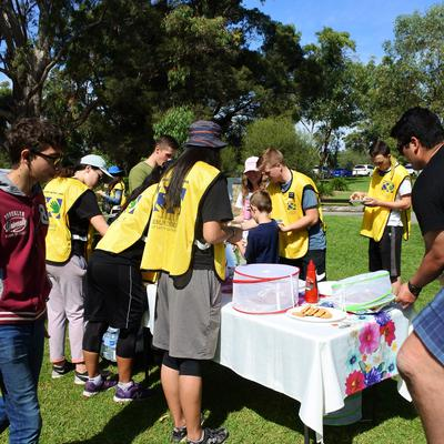 Sausage sizzle at the end of the service project