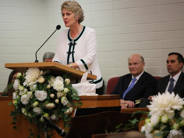 Sister Ruth Renlund speaking at the Dianella Stake Conference