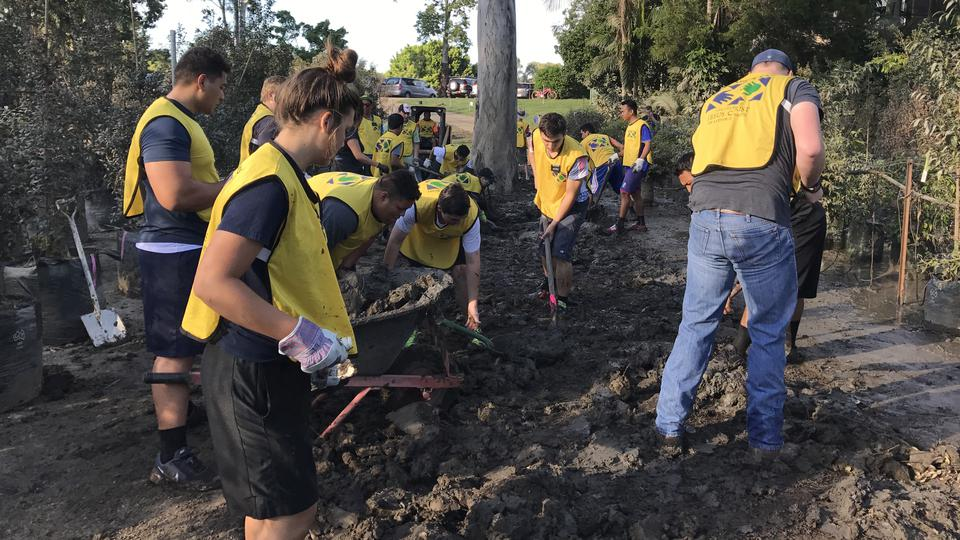 Mormon Helping Hands at Tree Farm after Cyclone Debbie
