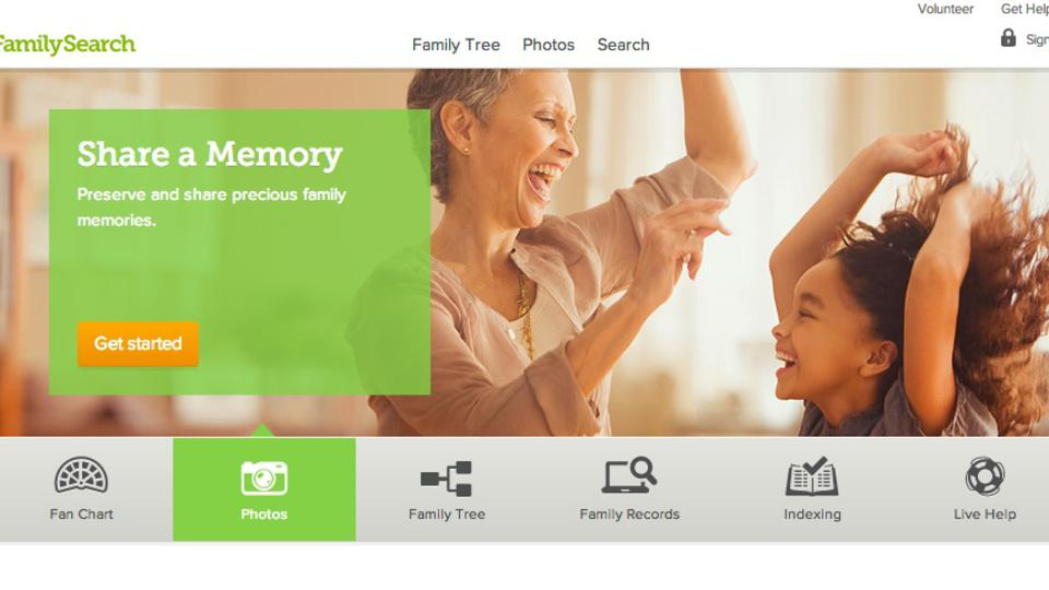 FamilySearch.org Redesign Includes  Shareable Photo, Story Options