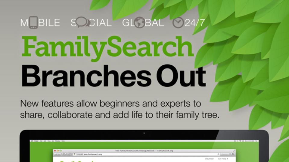 FamilySearch Branches out